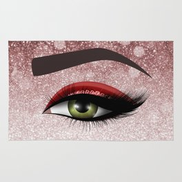 Glam diamond lashes eye #2 Rug