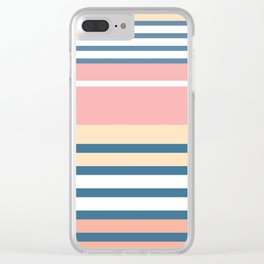 Bronte Stripe Clear iPhone Case