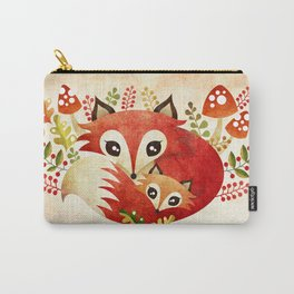 Fox Mom & Pup Carry-All Pouch