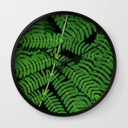 Green Ferns Wall Clock