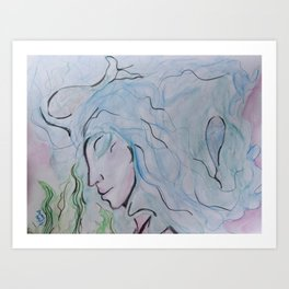 GODDESS OF LIQUID Art Print