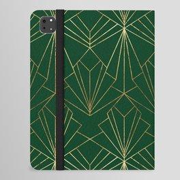 Art Deco in Emerald Green - Large Scale iPad Folio Case