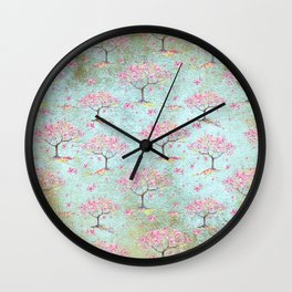 Spring Flowers - Cherry Blossom  Tree Pattern Wall Clock