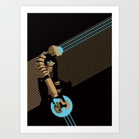 engineer Art Prints featuring The Engineer by Florey