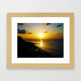 Seashore Serenity at Sunset Framed Art Print