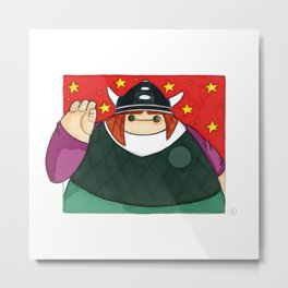 What if Baymax was Vicky the Viking (color) Metal Print