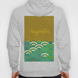 Seigaiha or seigainami literally means wave of the sea. Merry Christmas card Hoody
