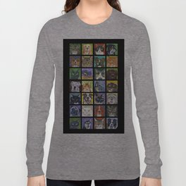 Cats and Dogs in Black Long Sleeve T-shirt