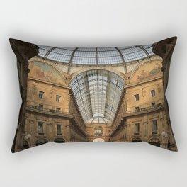 Galleria Vittorio Emanuele in Milan, Italy Rectangular Pillow