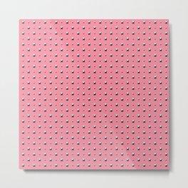 Studded Double Polka stud on Coral Pink 1@50 Metal Print