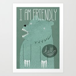 Friendly Bear Art Print