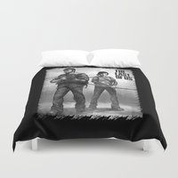 last of us Duvet Covers featuring The Last of Us Joel and Ellie by fardeen