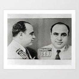 Al Capone Mug Shot, 1931. Vintage Photo Art Print