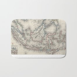 Vintage Map of Indonesia and The Philippines Bath Mat