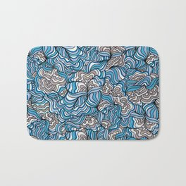 Gray Day with Blue Feelings Bath Mat