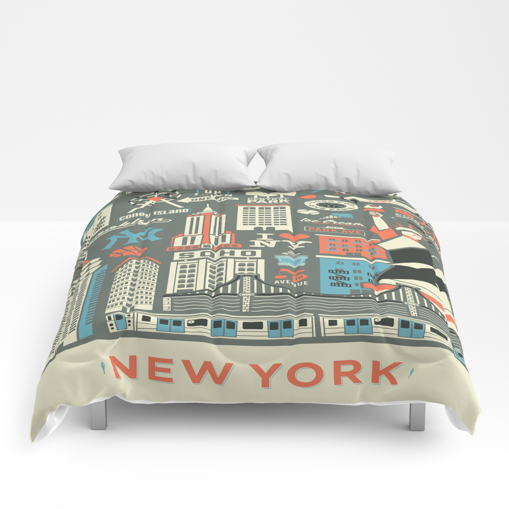 The City That Never Sleeps. Comforter by Albinholmqvist CMF764192