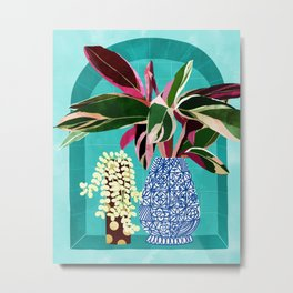 You Can't Buy Happiness But You Can Buy Plants & That's Pretty Much The Same Thing #painting Metal Print
