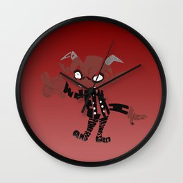 little demon soul eater Wall Clock