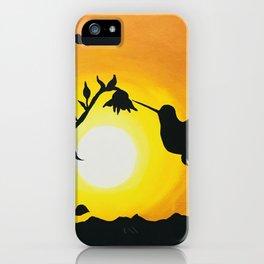 Sunset with Hummingbird iPhone Case