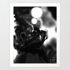 Space Coal Art Print