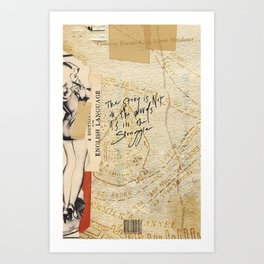 ə-ˈdik-shən Art Print