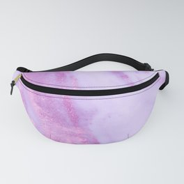 Pink Marble - Shimmery Magenta Gold Marble Metallic Fanny Pack