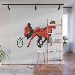 harness horse cart racing retro Wall Mural