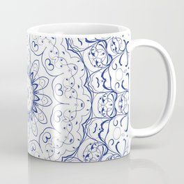 Blue and white mandala | Meditation | Yoga | Buddhism | Third Eye Coffee Mug