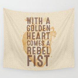 Golden Heart Wall Tapestry