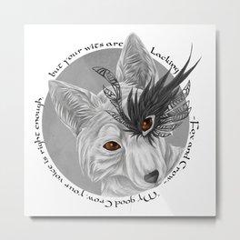 fox and crow  Metal Print