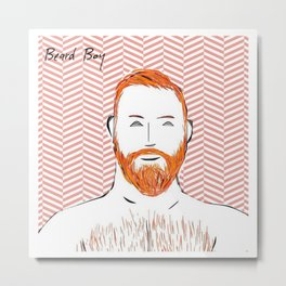 Beard Boy: Red Hot Richard Metal Print