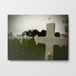 Here rests in honored glory a comrade in arms known but to God Metal Print