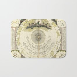 Constellations Diagram (1716) [Systema mundi Tychonicum] Bath Mat