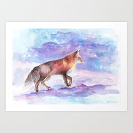 Winter Fox Art Print