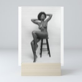 Shasta wonder sitting figure nude horizontal mosaic Mini Art Print