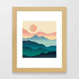 Wanderlust Gradient Mountain Framed Art Print