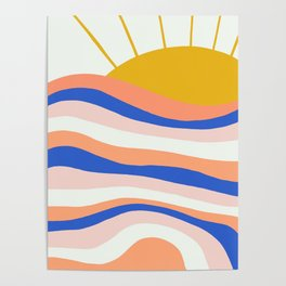 sunrise surf Poster