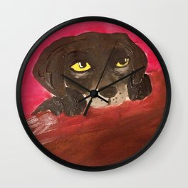 Jake, the Baby Labrador Wall Clock