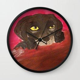 Jake, the Baby Labrador Wall Clock
