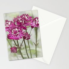 Pink Flowers in the Mist Stationery Cards
