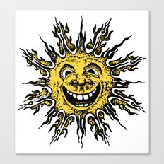 sun face - original yellow Canvas Print