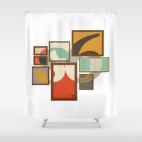 frames Shower Curtains featuring S6 Tee - Frames by Josè Sala