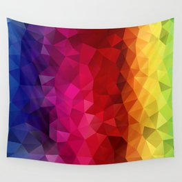 Rainbow Polygons Wall Tapestry