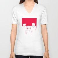 kids V-neck T-shirts featuring Kids by Black Bear / White Bear