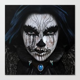 The Lady of Darkness Canvas Print