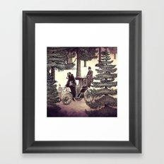 Two Gentlemen in the Forest Framed Art Print