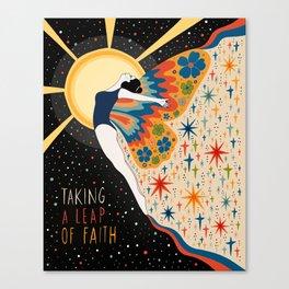 Taking a leap of faith Canvas Print