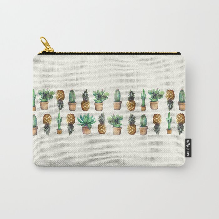 cactus and pineapples line 2 Carry-All Pouch