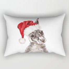 Christmas Baby Kangaroo Rectangular Pillow
