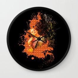 Beauty Women Splash Colors Wall Clock